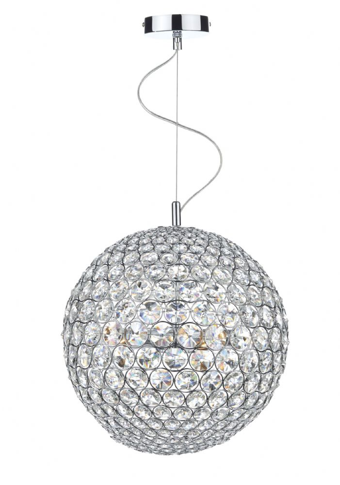 Fiesta 12 Light 90CM Pendant Polished Chrome (Class 2 Double Insulated) BXFIE1250-17
